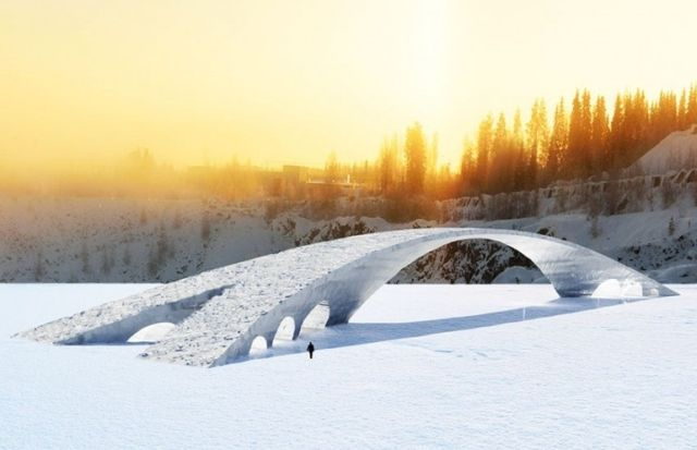 50-meter-long Ice bridge