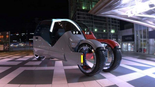 Concept car splits in two motorcycles