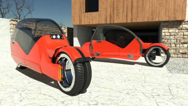 Concept car splits in two motorcycles (3)
