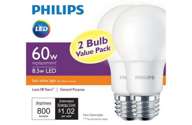 New LED light bulb announced by Philips 2