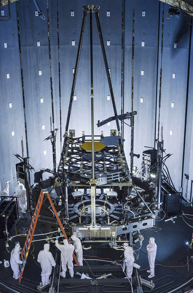 Webb Space Telescope in giant Thermal Vacuum Chamber