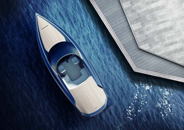 Aston Martin AM37 speedboat by Quintessence Yachts