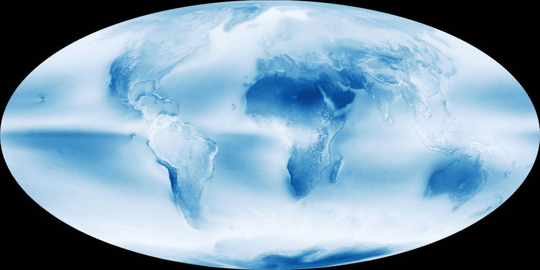 Cloudy Earth global map (