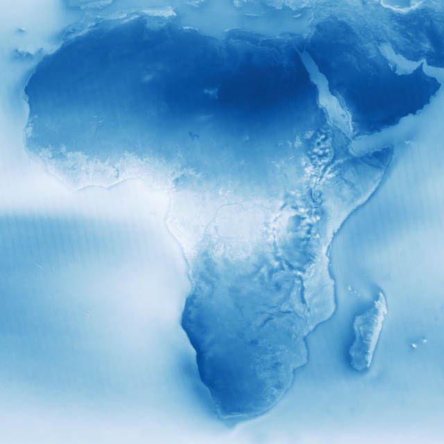 Cloudy Earth Africa map