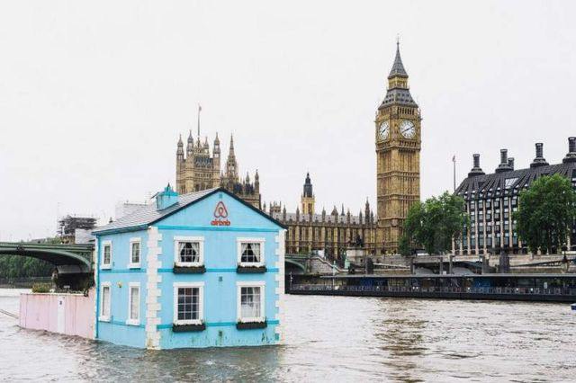 Floating House on the River Thames