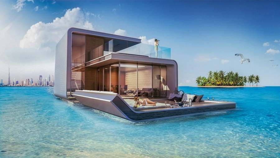 Modern master bathroom plan - Floating Seahorse Is A Floating Villa Which Has Been Cleverly