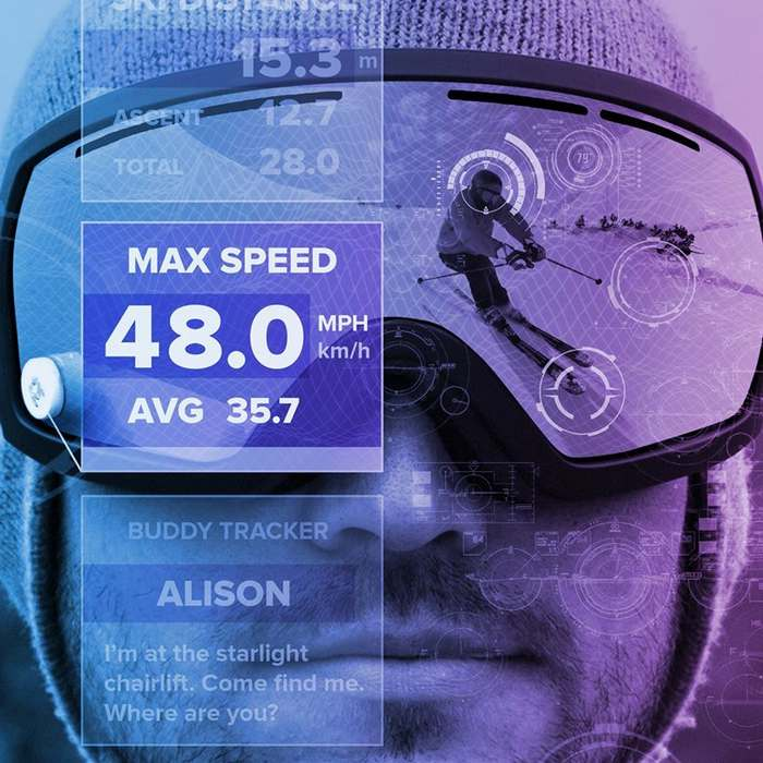 GogglePal universal heads-up display to snow goggles (4)