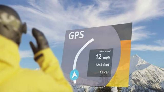 GogglePal universal heads-up display to snow goggles (2)
