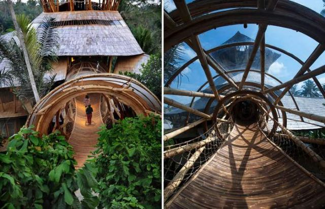 Bamboo houses in Indonesia (7)