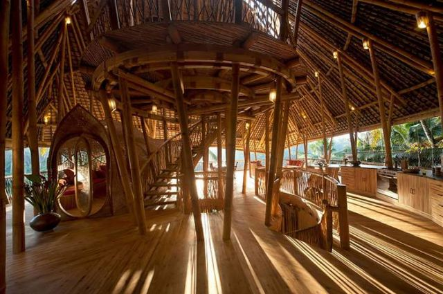 Bamboo houses in Indonesia (3)
