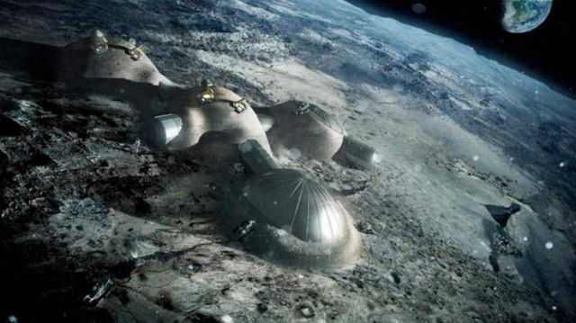 3D printed base on the Moon by Foster + Partners (2)