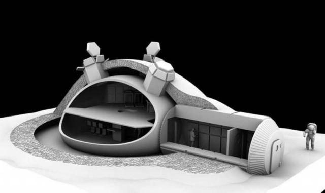 3D printed base on the Moon by Foster + Partners (1)