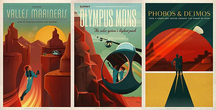 SpaceX's retro Mars travel posters