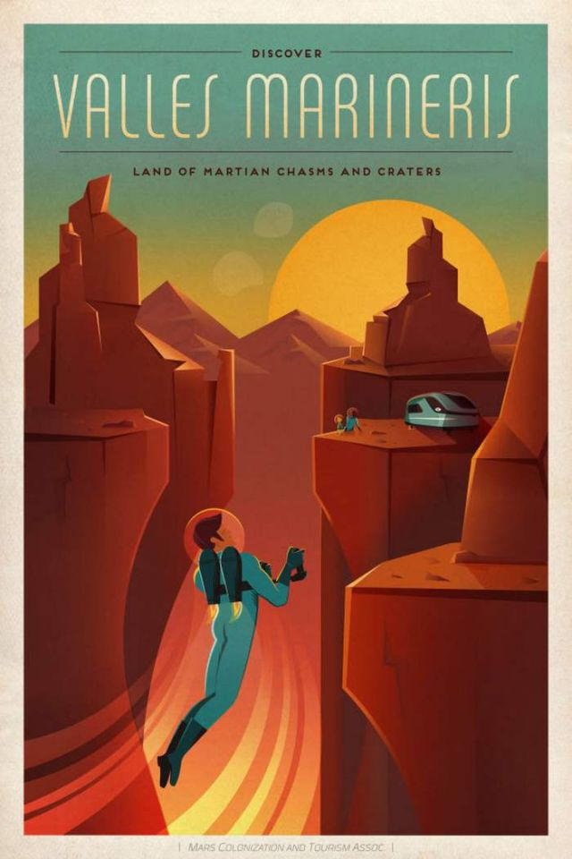 Valles Marineris travel poster