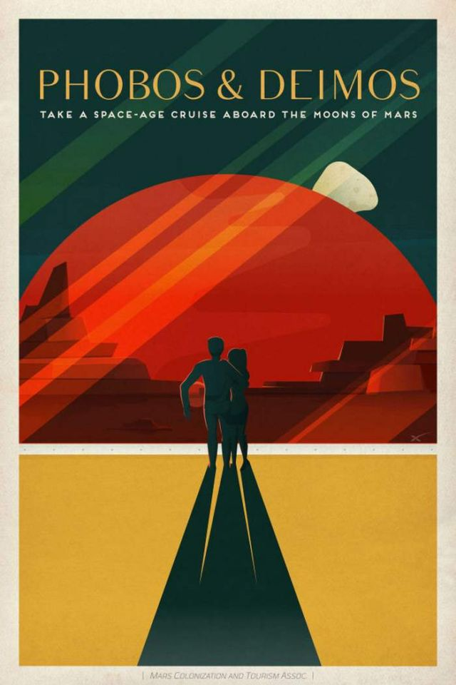 Phobos and Deimos travel poster