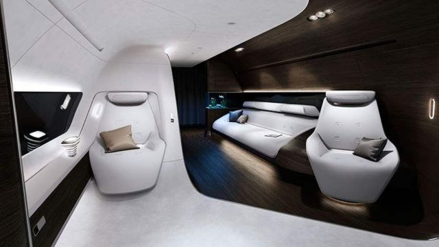 VIP aircraft cabin by Mercedes and Lufthansa (6)