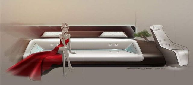 VIP aircraft cabin by Mercedes and Lufthansa (3)