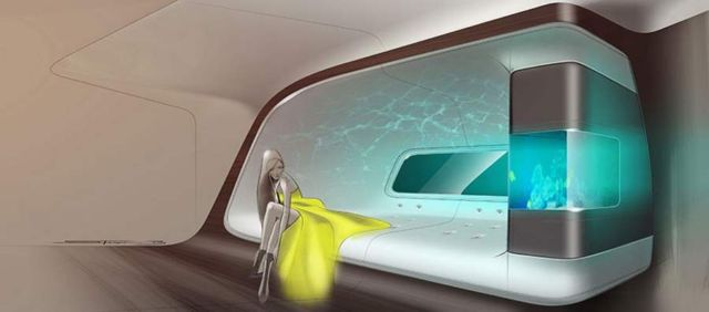 VIP aircraft cabin by Mercedes and Lufthansa (2)