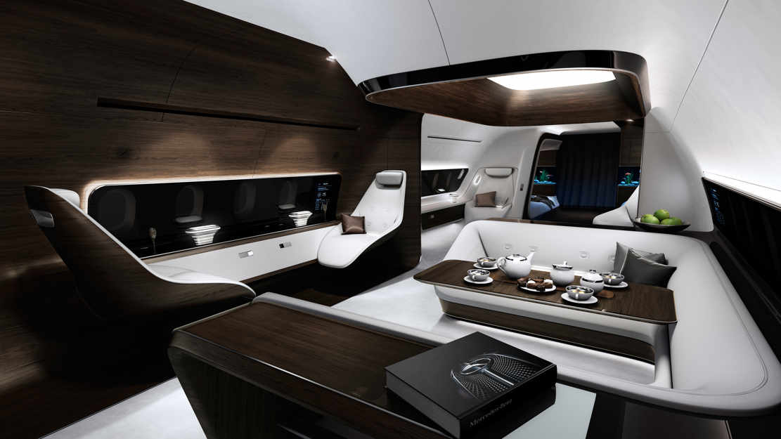 VIP aircraft cabin by Mercedes and Lufthansa (1)