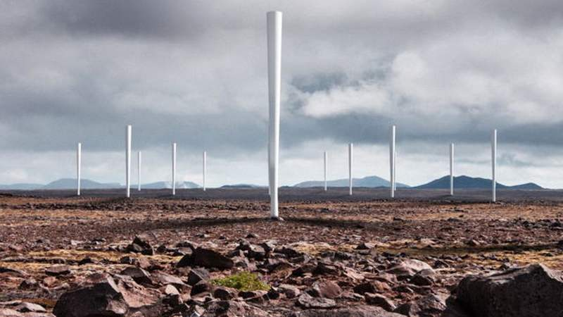 Vortex Bladeless Wind Turbine