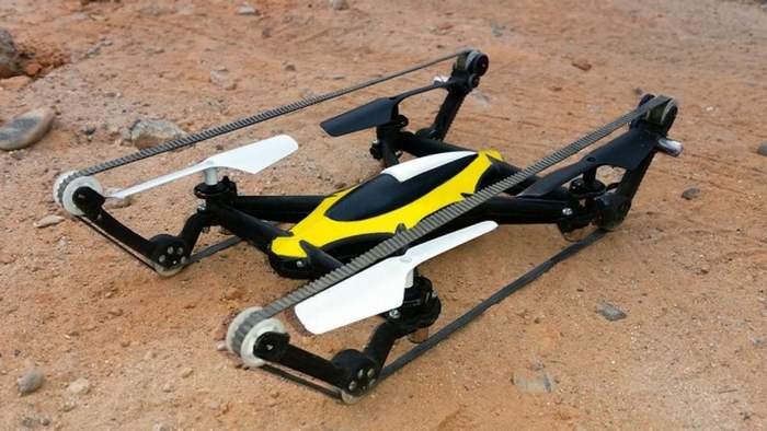 World first Tank-Quadcopter