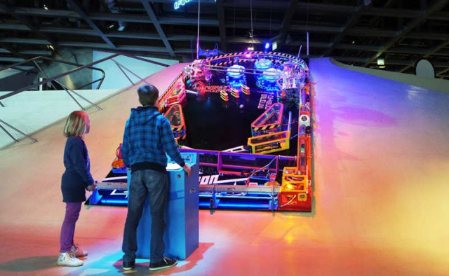 Super-sized pinball machine
