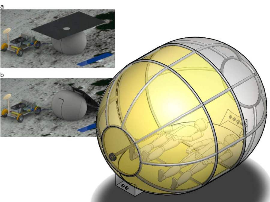 Inflatable Tent for the moon