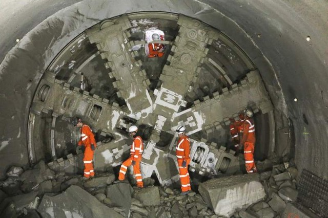 Crossrail tunneling construction project