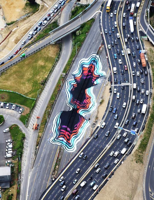 Giant Optical Illusion in Paris by 1010 (2)