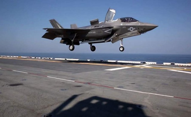 F-35B first Deck Operations 2