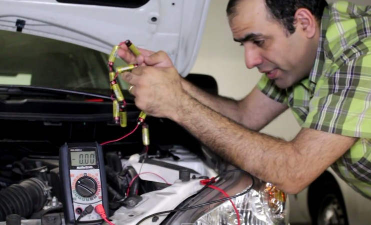 Jump start your car with AA batteries
