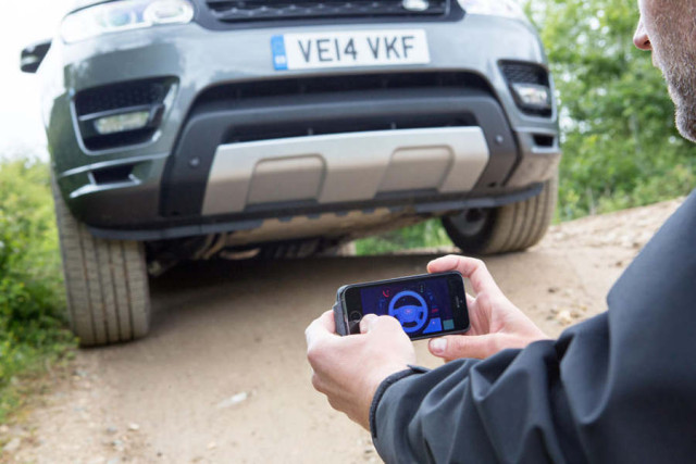 Land Rover Driven with your Smartphone