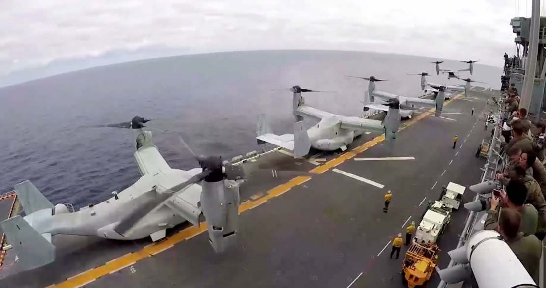 MV-22 Osprey Carrier Departures