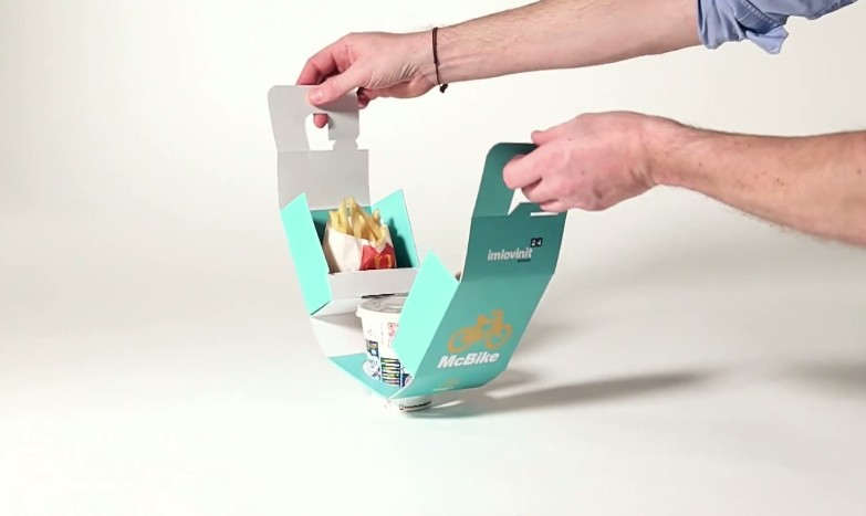 McDonald AutoMac Bike Takeout packaging