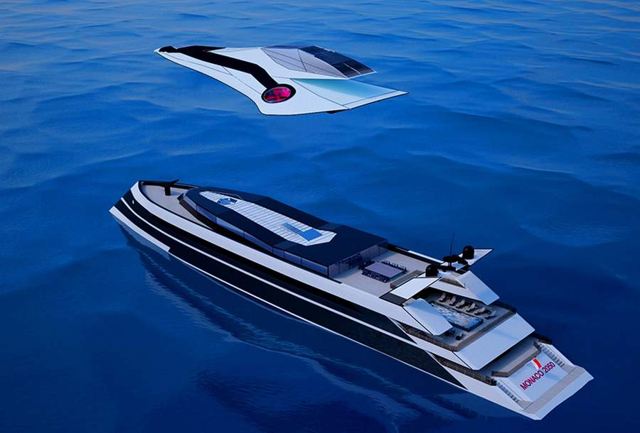 luxury helicopters black with Monaco 2050 Hybrid Yacht Of The Future on Burning Man Nevada Flights Helicopter also 9 as well The New Oceanco 85 M Motor Yacht Sunrays as well Burning Man Airport Helicopter Rides 2016 9 moreover Agustawestland Aw139 Pininfarina Edition.
