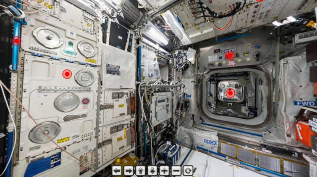 ISS panoramic interactive tour