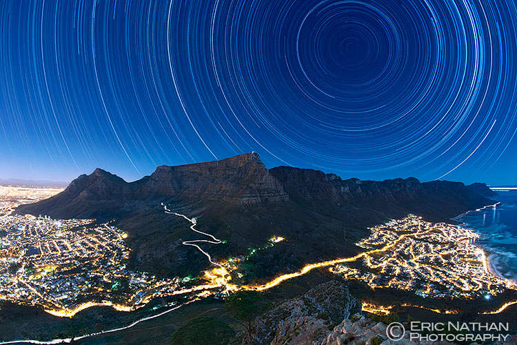 Star Trails above Cape Town