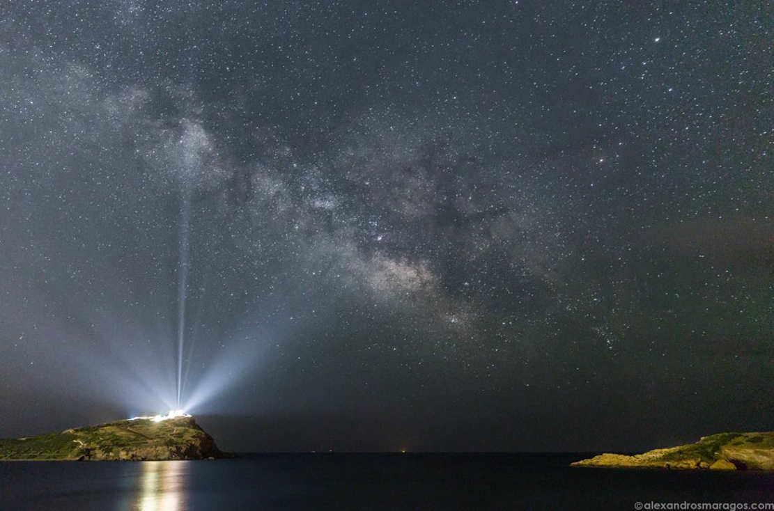 Milky Way over the Temple of Poseidon