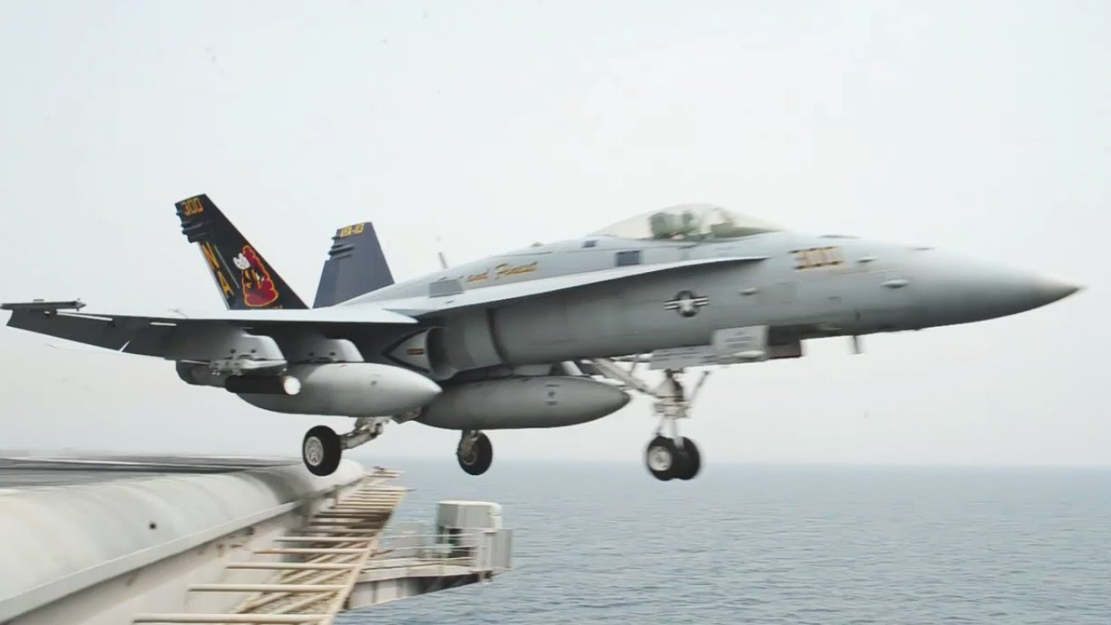 F-18 Hornet taking off form an Aircraft Carrier
