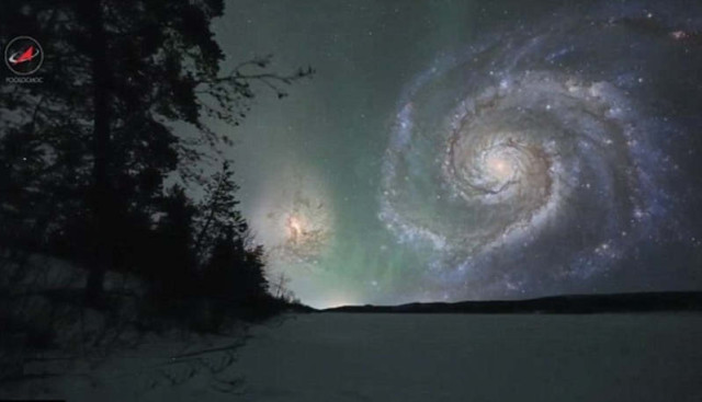Earth's Sky if Celestial Bodies were closer