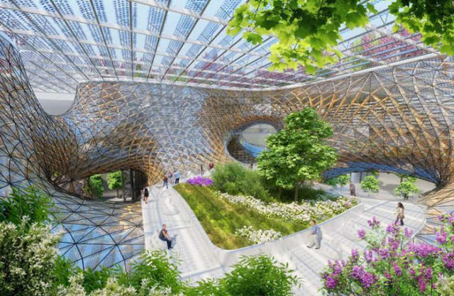 Wooden Orchids Shopping Mall by Vincent Callebaut