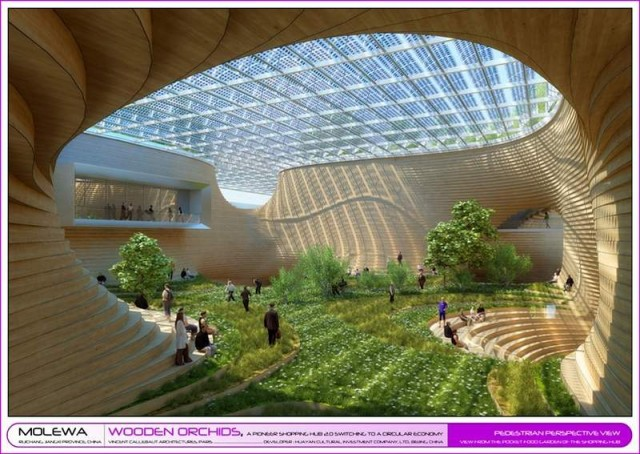 Wooden Orchids Shopping Mall by Vincent Callebaut (2)