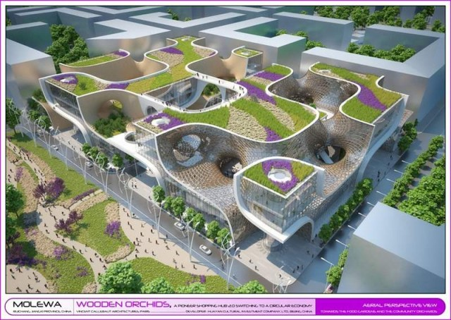 Wooden Orchids Shopping Mall by Vincent Callebaut (9)