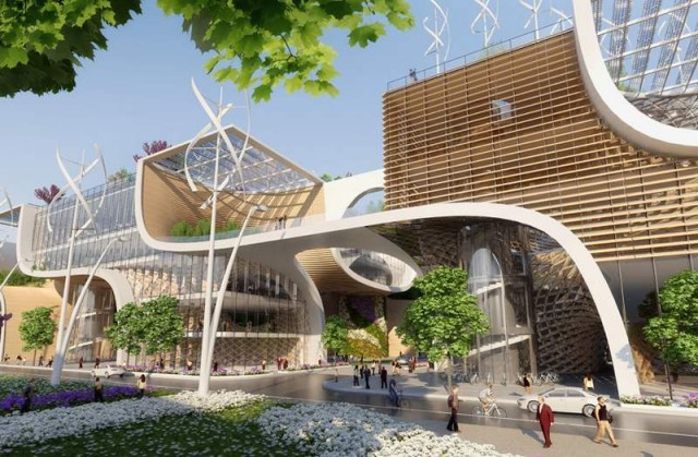 Wooden Orchids Shopping Mall by Vincent Callebaut (8)