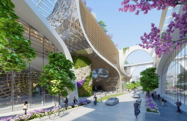 Wooden Orchids Shopping Mall by Vincent Callebaut (7)
