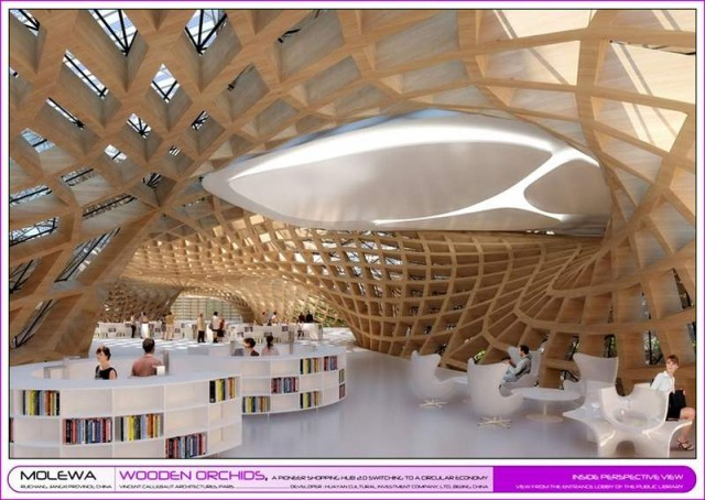Wooden Orchids Shopping Mall by Vincent Callebaut (6)