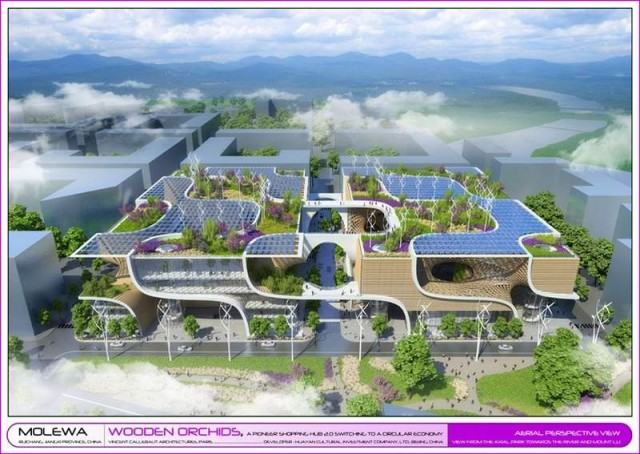 Wooden Orchids Shopping Mall by Vincent Callebaut (4)