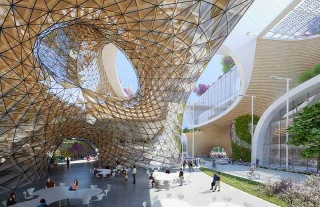 Wooden Orchids Shopping Mall by Vincent Callebaut (3)
