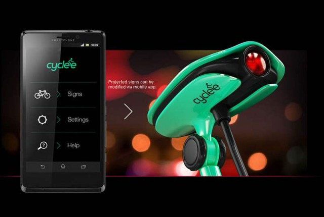cyclee- Sign Projector concept for bike riders (3)
