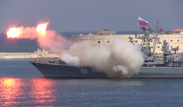 Russian Navy Missile Explode in a demonstration